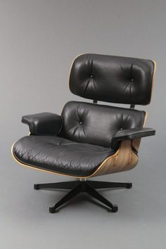 Lounge Chair, Schichtholz, Leder, Entwurf Charles & Ray Eames