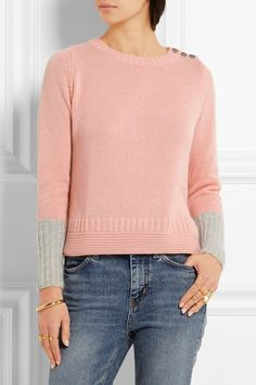 CHINTI AND PARKER Zweifarbiger Kaschmirpullover  375,00 € https://www.net-a-porter.com/products/649634