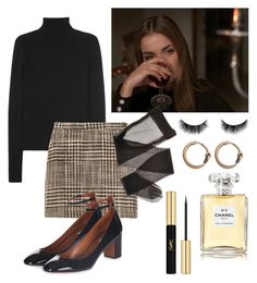 """""""Untitled #170"""" by lacroixsweetie ❤ liked on Polyvore featuring Calvin Klein Collection, Missoni, shu uemura, Topshop, Acne Studios, Yves Saint Laurent and Chanel"""