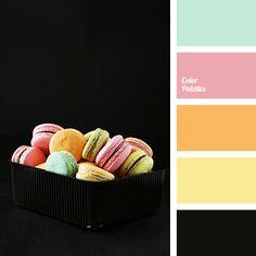 black color, color matching, color solution for home, green color, orange color, pale pink color, pale yellow color, pastel pink color