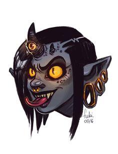 demon girl by Fukari on DeviantArt