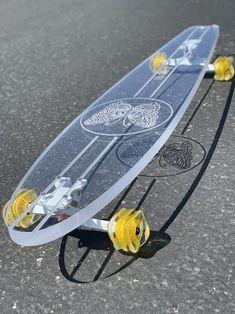 Butterfly – Ghost Long Board Skateboard Deck Art, Penny Skateboard, Skateboard Design, Skateboard Girl, Skateboard Photos, Image Bleu, Longboard Design, Longboard Deck, Skate Girl