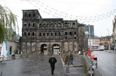 This is the gate leading into Trier on of the oldest towns in Germany.
