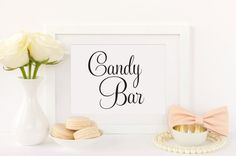 Items similar to Reserved for Bridal Party Sign, Wedding Reserved Signs for Wedding, Reserved for Bridesmaid, Wedding Signage (Set of on Etsy Cookie Bar Wedding, Wedding Candy Table, Dessert Bar Wedding, Wedding Desserts, Wedding Favors, Wedding Decor, Wedding Ideas, Candy Buffet Signs, Dessert Table Decor