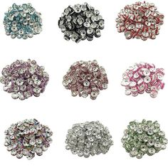 HIgh Quality 50 piece lot Rhinestone Loose Crystal Silver Plated Rondelle  Spacer Beads For Jewelry f3d4aa1d453d