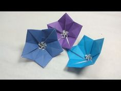 Origami Flower of Dipladenia Tutorial - (Naomiki Sato) - YouTube