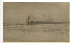 Minnesota c1910 Wintery Train View