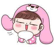 Boobib Lovely Daily (... | 光頭賣 - 最大的LINE貼圖代購網 | 全館通通降五元 VIP儲值300送40 Baby Girl Earrings, Emoji, Girl Humor, Anime Chibi, Cute Stickers, Smurfs, Hello Kitty, Funny, Fictional Characters