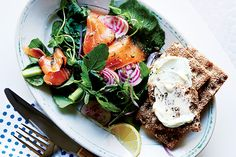 Find the recipe for   Smoked Salmon Breakfast Salad with Crispbread and other leafy green recipes at Epicurious.com