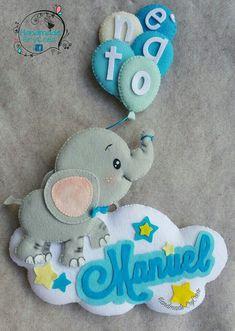 Baby Mobile Felt, Felt Baby, Felt Crafts, Diy And Crafts, Baby Tiara, Felt Name Banner, Luxury Nursery, Tilda Toy, Baby Applique