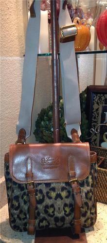 Auth Lauren Ralph Lauren Leopard Cross Body Bag Messenger Purse | eBay