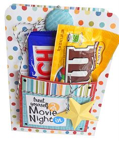 Movie Night DVD Wrap Tutorial- cool idea to promote movie series. On the inside you can put cinema info and maybe a free ticket!