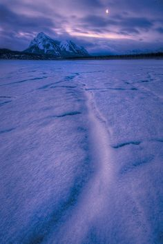 An uncommon view…Abraham Lake, Alberta, Canada, by Dan Jurak, on 500px.