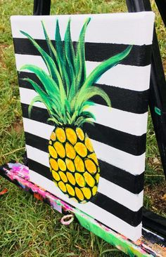 How To Paint A Pineapple - Step By Step Painting