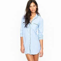 Nightshirt in end-on-end cotton - Who needs pj bottoms when you have this shirt!