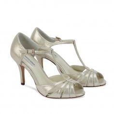 Benjamin Adams Blake Gold Leather Designer Wedding Shoes £150