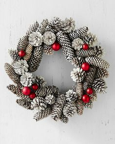 Frosty Pinecone Wreath- I think I can make this.