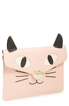 Bridal Purse. I'll have to just have a different bridal purse every hour. Betsey Johnson Cat Clutch available at #Nordstrom