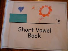 Short Vowel Flip Books. Each page of the book has a vowel on it. The students have to think of words that make the short vowel sounds and then draw a picture to match.