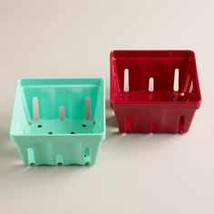 One of my favorite discoveries at WorldMarket.com: Melamine Berry Baskets, Set of 2