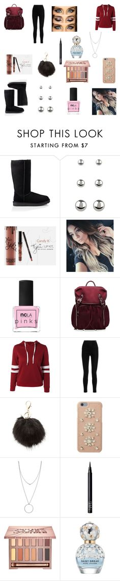 """""""Burgady Dream"""" by mooreelizabeth on Polyvore featuring UGG, Accessorize, Kylie Cosmetics, ncLA, M Z Wallace, Balmain, Charlotte Russe, MICHAEL Michael Kors, Botkier and NARS Cosmetics"""