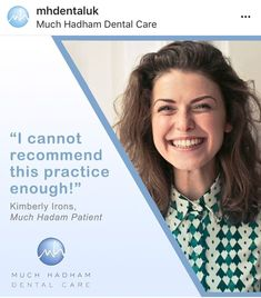 """""""I cannot recommend this practice enough! Everyone that works at Much Hadham is so friendly and I'm getting over my phobia of the dentist thanks to you all. Dental Health, Dental Care, Invisible Braces, Teeth Straightening, Simply Life, Root Canal Treatment, Yellow Pages, Perfect Smile, Dental Services"""