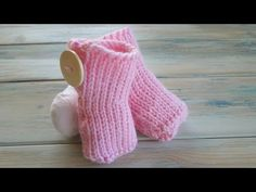 (crochet) How To - Tunisian Crochet Baby Booties - Yarn Scrap Friday