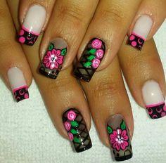 Rainbow Nail Art, Fancy Nails, Pedicure, Nail Designs, Art Nails, Beauty, Mary, Nail Arts, Nail Bling