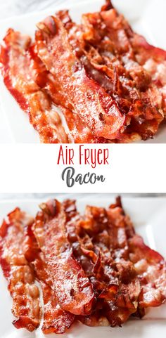 Learn how to make air fryer bacon. It's an easy and splatter free way to cook bacon that comes out perfect. Use your air fryer to make bacon any way you like it. You'll love the results, and clean up is simple! How to Make Air Fryer Bacon Daily Dis Air Fryer Recipes Vegetables, Air Fryer Oven Recipes, Air Frier Recipes, Air Fryer Dinner Recipes, Healthy Vegetables, Air Fryer Recipes Breakfast, Breakfast Healthy, Breakfast Dishes, Cooks Air Fryer