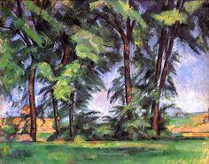 The tall threes at the Jas de Bouffan (1883) - Paul Cezanne