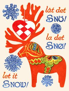 """""""let it snø"""" - scandinavian-inspired print by rick allen for the kenspeckle letterpress; never too early for wintery daydreams"""