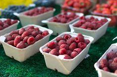 Raspberries on a market - Foodie's Feed