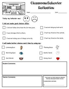 "Students are responsible for their own behavior! This documentation form will help:-Let students identify the misbehavior they displayed as well as determine what they need to do to make better choices.-Give parents a clear understanding of the misbehavior and provide a starting point for discussions. *** If margins do not fit when printing, select the ""print to scale"" option"