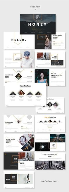 Honey Powerpoint Template - Presentations - Creative Market
