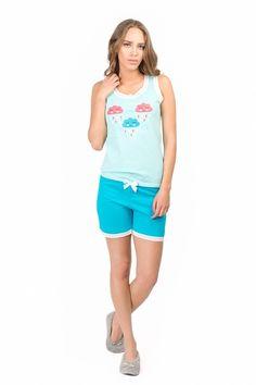 Descopera noua colectie de pijamale! :)   Pijama cu maiou si pantaloni scurti realizata din bumbac de calitate superioara. Produsul este accesorizat cu dantela atat la nivelul pantalonului cat si al maioului. Pajamas Women, Bermuda Shorts, Comfy Pajamas, Gym Shorts Womens, Fashion, Babydoll Sheep, Moda, Pajamas For Women, Fashion Styles