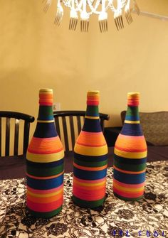 Look, it's not just a boring bottle anymore! DIY home decor