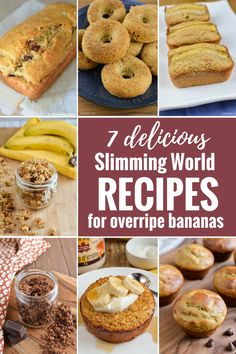 Fed up with overripe bananas sitting in your fruit bowl? Check out these 7 Delicious Slimming World Recipes To Make With Overripe Bananas. Slimming World Banana Cake, Slimming World Sweets, Slimming World Breakfast, Slimming World Recipes Syn Free, Slimming World Diet, Slimming Eats, Slimming World Flapjack, Ripe Banana Recipes Healthy, Recipes For Overripe Bananas