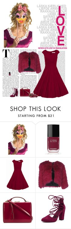 """""""Senza titolo #4568"""" by ladyhysteria ❤ liked on Polyvore featuring Disney, Oris, Chanel, WithChic, Miu Miu, Mark Cross and Mollini"""