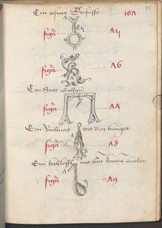 Hirschvelder, Bernhard: Gedächtniskunst Raum Nördlingen, um 1475 Cgm 4413  Folio 55