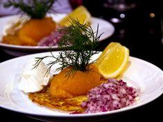 Fransk råraka med löjrom från Vänern (kock Micke - Stockholm)