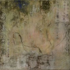 Claudia  Marseille - Claudia Marseille I Can_t Quite Remember an encaustic and mixed media painting at Seager Gray Gallery in Mill Valley CA in the San Francisco Bay Area.