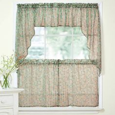Reef Marine Knitted Lace Kitchen Curtains 24 Inch 36 Inch Kitchen Curtains Set Of