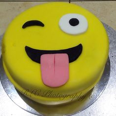 Emoji cake!! Cheeky tongue Made by Rachael. C Proud of myself