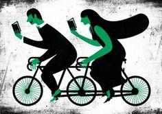 La Esfera Cultural: Bicicletas y libros. Una simbiosis perfecta. - Ilustración de André de Loba