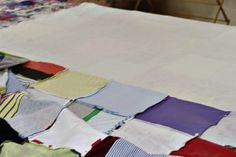 How to make a memory quilt from baby blankets, clothes and t-shirts. DIY tutorial 21 via lilblueboo.com