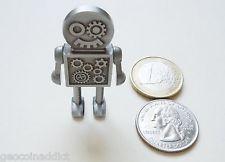 *** Steam Punk Robot Geocoin + Copy Tag Set Steampunk moving Parts Unactivated