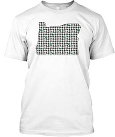 Men's State Of Oregon Houndstooth Tee. Order before May 27th!