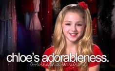 Little Things About Dance Moms I wish Abby would take a week to treat Chloe the way she does maddy no yelling just extra time by herself and give her awsome choreography with more emotion and quite obsessing over maddy just 1 week