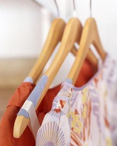 Affix swatches of Ultrasuede fabric to wooden hangers with a bit of craft glue to keep delicate garments from tumbling to the closet floor.