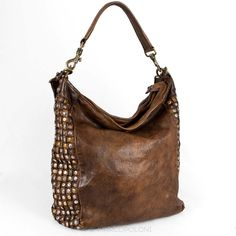 Studded Zip-Top Hobo - ROGERIUS by Campomaggi | Marcopoloni